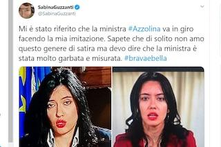 """Sabina Guzzanti scherza sulla somiglianza col ministro Azzolina: """"Mi imita, è garbata e misurata"""""""