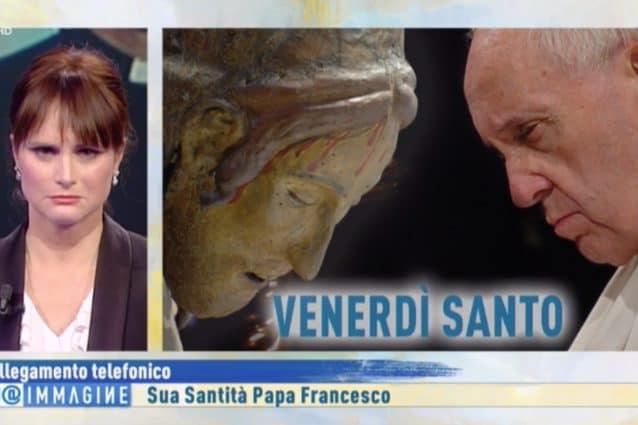 Papa Francesco chiama in diretta a Rai 1, la telefonata è commovente