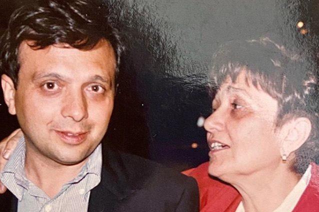 Piero Chiambretti con la madre Felicita (via Instagram)