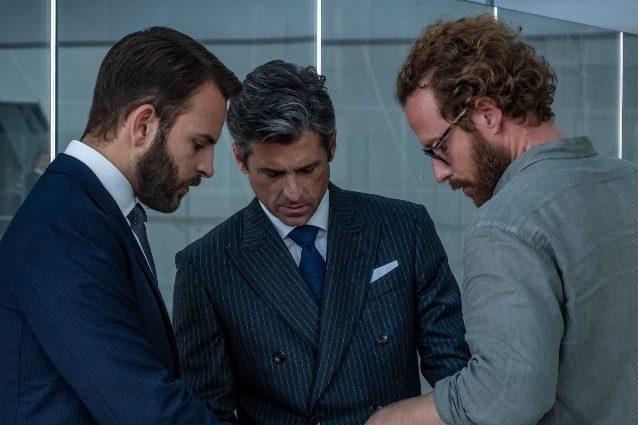 Alessandro Borghi, Patrick Dempsey e Jan Maria Michelini sul set di Diavoli