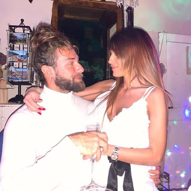 Filippo con la compagna Carolina