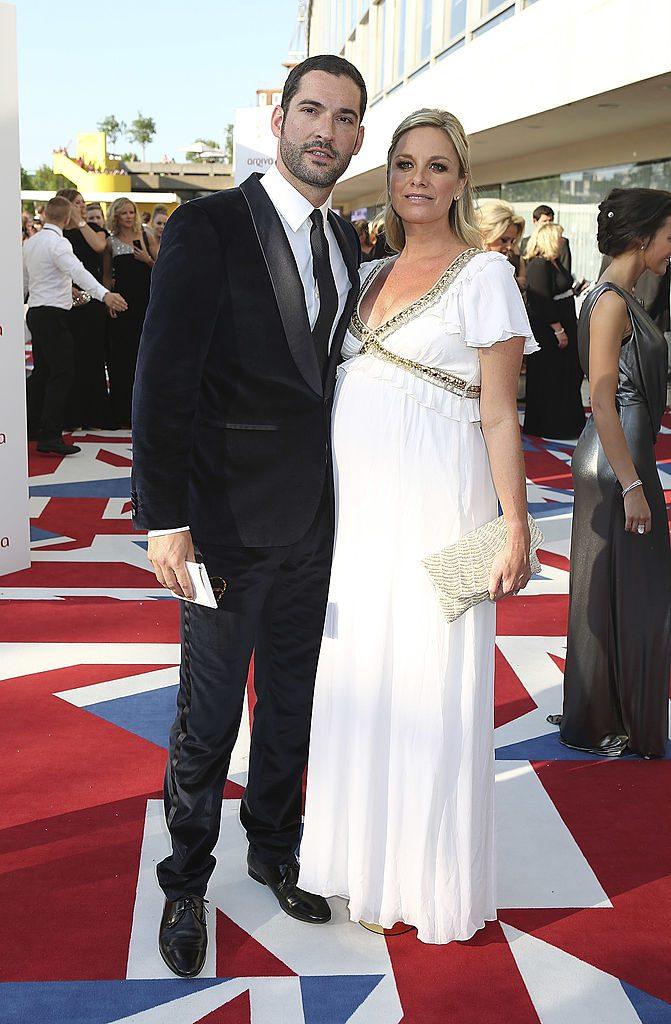 Tom Ellis con la prima moglie Tamzin Outhwaite
