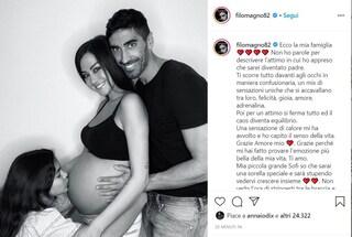 """Giorgia Palmas aspetta un figlio da Filippo Magnini. Lui: """"Non vedo l'ora di stringerti"""""""