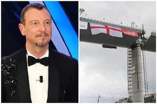 Amadeus condurrà l'inaugurazione del nuovo ponte di Genova