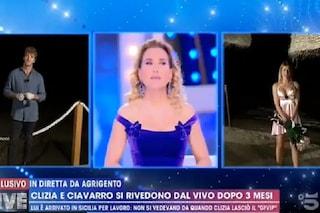 """L'incontro trash tra Paolo Ciavarro e Clizia Incorvaia, D'Urso: """"Sceneggiata, vi siete già visti"""""""