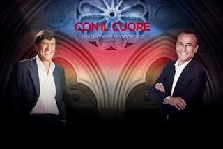 """Con il cuore - Nel nome di Francesco, Carlo Conti conduce con Gianni Morandi: """"Show senza pubblico"""""""