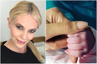 """Eleonora Daniele mamma, la prima foto di Carlotta: """"La più grande emozione della mia vita"""""""