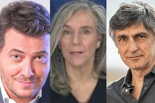Giovanna Botteri, Corrado Guzzanti e Vincenzo Salemme, che ospiti a Propaganda Live