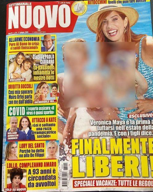 La copertina del settimanale con l'intervista a Lory Del Santo