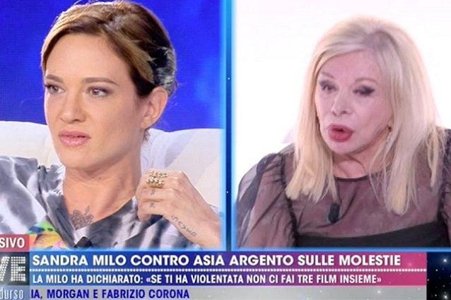 Asia Argento contro Sandra Milo: