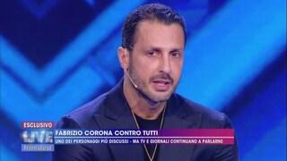 """Fabrizio Corona rischia altri 9 mesi, videomessaggio a Barbara d'Urso: """"Ho fede nella giustizia"""""""