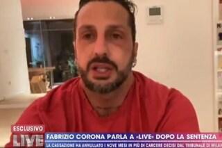 Fabrizio Corona a Live - Non è la D'Urso dopo la telefonata choc a Nina Moric
