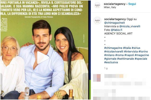 Il post pubblicato sul profilo Instagram dell'agenzia con il tag a Nicola Vivarelli