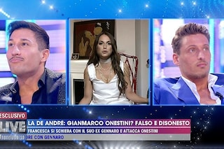 """Scontro tra Gianmarco Onestini e Gennaro Lillio: """"Codardo"""", """"Sei la marionetta di tuo fratello Luca"""""""