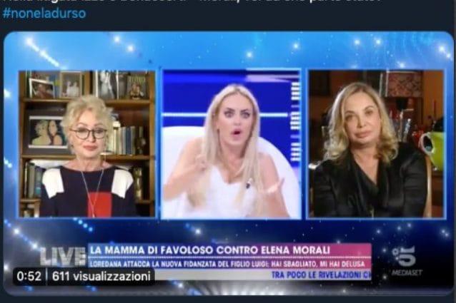 Live- Non è la d'Urso, Elena Morali replica: