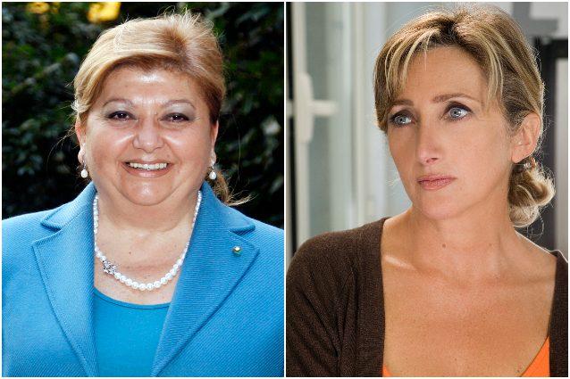 A sinistra Silvana Fucito, a destra l'attrice Lunetta Savino