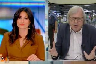 """Vittorio Sgarbi a Stasera Italia: """"Emilio Fede arrestato a Napoli, una decisione contro la vita"""""""