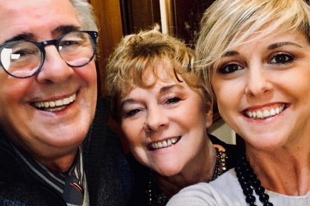 Nadia Toffa con i genitori Margherita e Maurizio