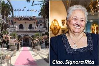 """""""Il castello delle cerimonie"""" torna in tv, ricordando la signora Rita morta per il Covid"""