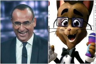 """Carlo Conti diventa un cartone, sarà un personaggio di 44 gatti: """"Un'idea di mio figlio"""""""