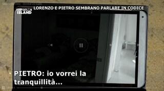 """Lorenzo Amoruso: """"Voleva controllassi le telecamere"""", i dettagli dell'audio notturno con Pietro"""