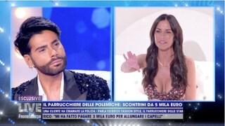 """Antonella Mosetti contro Federico Fashion Style: """"Persi tutti i capelli"""", lui: """"Mi devi 600 euro"""""""