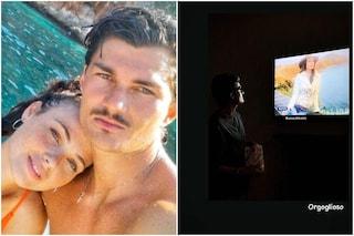 """Adua Del Vesco al GF Vip 2020, il fidanzato Giuliano fa il tifo per lei: """"Sono orgoglioso di te"""""""