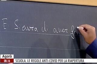 """La gaffe di Claudio Durigon ad Agorà, scrive """"E sicura"""" senza accento e la Costamagna lo corregge"""