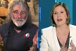 """Stia zitta, gallina"": Mauro Corona insulta Bianca Berlinguer in diretta, poi lascia Cartabianca"