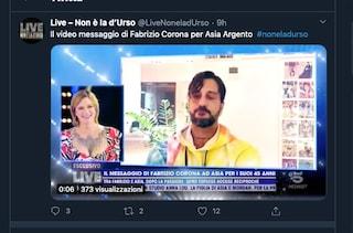 """Asia Argento, il messaggio di Fabrizio Corona per il compleanno: """"Tornerò a farti vedere le stelle"""""""