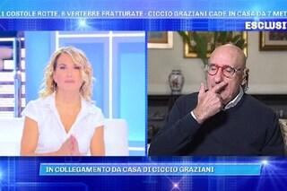 """Ciccio Graziani si commuove dopo la caduta da 6 metri: """"Temevo per la mia vita, sono un miracolato"""""""