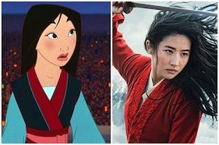 Mulan su Disney+, le differenze tra il film e il cartone animato