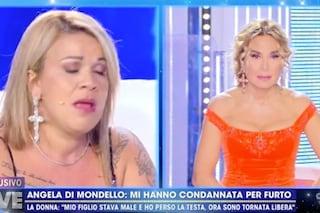 """Angela da Mondello rivela: """"Mio figlio è morto, sono stata condannata per furto"""""""