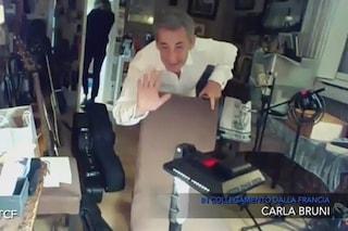 Incursione di Sarkozy a Che tempo che fa, Fazio interrompe l'intervista a Carla Bruni ma lui scappa