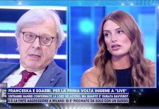 """Franceska Pepe: """"Mai stata con Sgarbi"""". Lui: """"Ti ho baciato e mi hai anche toccato le parti intime"""""""