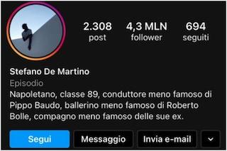 """Stefano De Martino cambia la bio su Instagram: """"Compagno meno famoso delle sue ex"""""""
