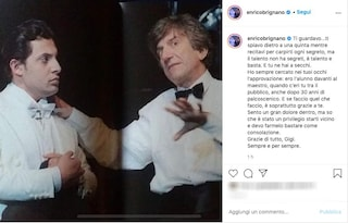 """Morto Gigi Proietti, Enrico Brignano: """"Un privilegio starti vicino, me lo farò bastare"""""""