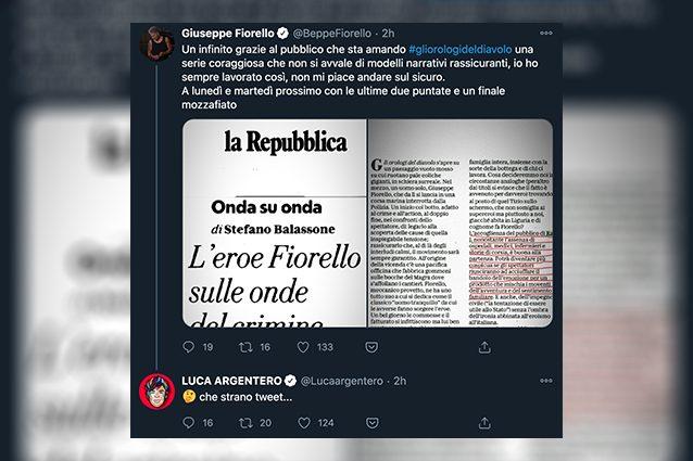 Beppe Fiorello contro Luca Argentero, un duello via social