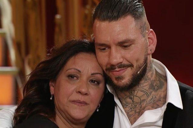 La signora Mariella e il figlio Daniele Scardina