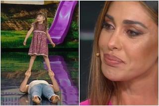 Elisa a 5 anni balla a Tu sì que vales con il padre acrobata, Belén Rodriguez si commuove
