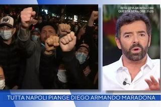 """Morte Maradona, assembramenti a Napoli e Matano chiude il collegamento: """"Non esiste"""""""
