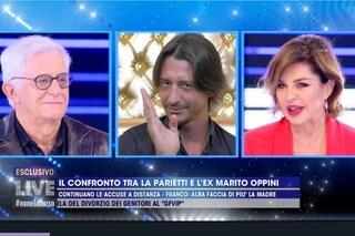 """Alba Parietti a Franco Oppini: """"Io vivevo il dolore di Francesco, tu non eri lì tutti i giorni"""""""