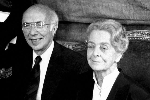 Renato Dulbecco e Rita Levi Montalcini