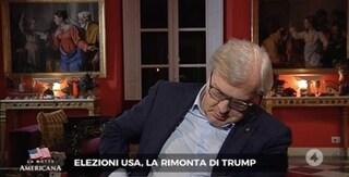 Vittorio Sgarbi si addormenta in Tv durante lo speciale per le elezioni americane