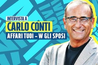 """Torna Affari tuoi, Carlo Conti: """"Aiuteremo coppie di sposi, vorrei sparissero i nuovi poveri"""""""