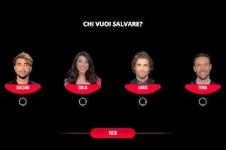 Giacomo Urtis, Giulia Salemi, Mario Ermito e Andrea Zenga sono i nominati del GF Vip del 28 dicembre
