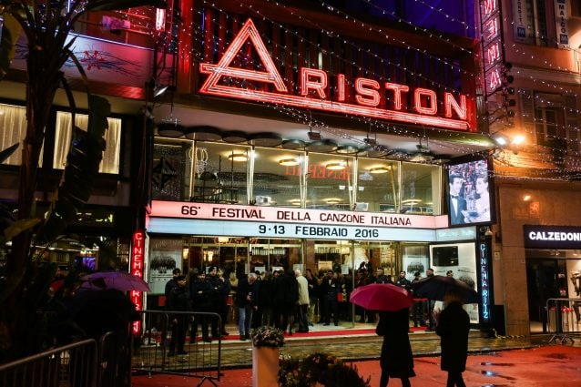 Il teatro Ariston di Sanremo