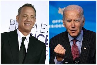Tom Hanks scende in campo per Joe Biden, sarà lui a condurre lo speciale per l'insediamento