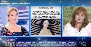 """Agostina Belli a Live Non è la D'Urso: """"Mia madre fu uccisa, riaprite le indagini"""""""