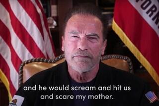 """Il discorso di Arnold Schwarzenegger: """"Mio padre mi picchiava e terrorizzava mia madre"""""""
